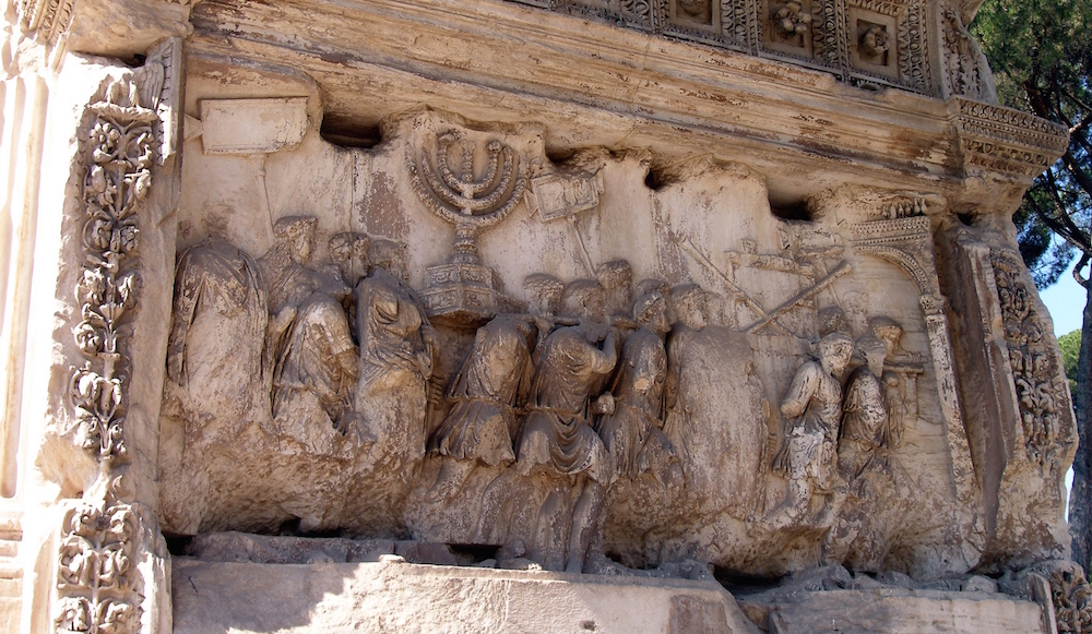 Was this Roman Monument Depicting the Temple Menorah Brightly Colored?
