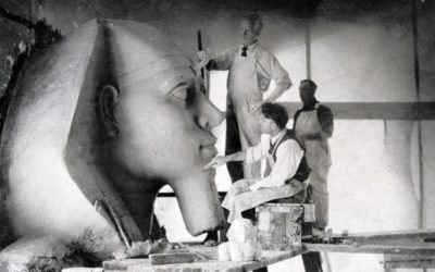 """Sphinx Head Discovered From """"The Lost City of DeMille"""""""