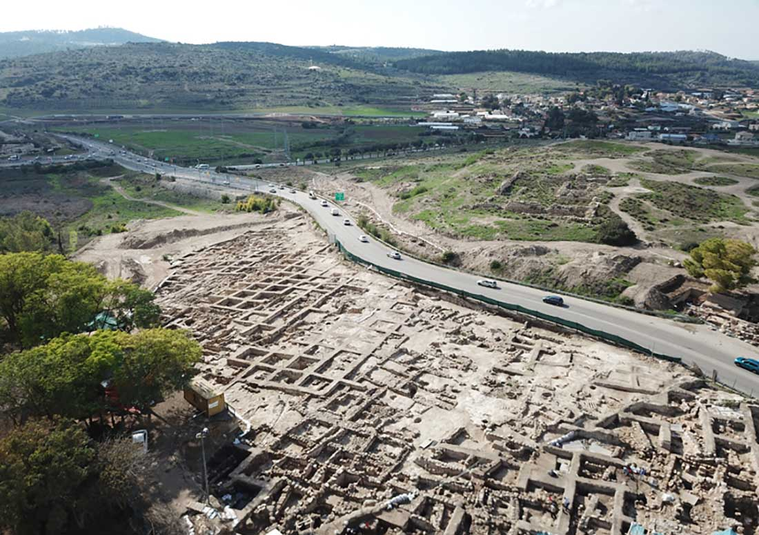 The extensive 7th century BC settlement was discovered during salvage excavations at Tel Beit Shemesh