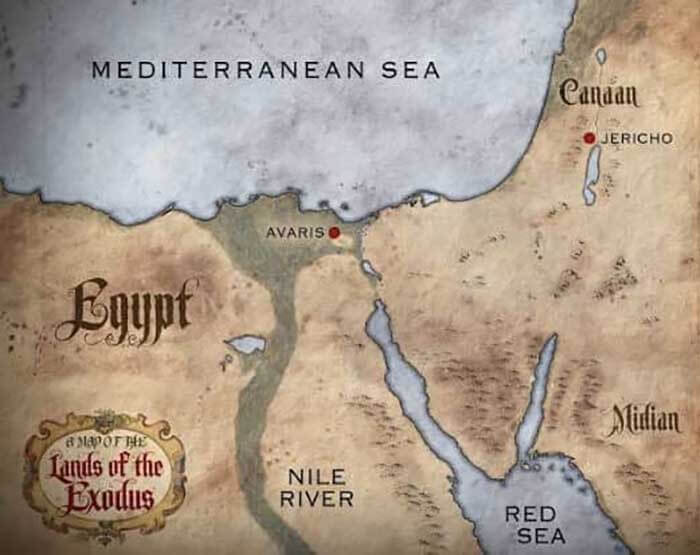 The lands of the Exodus map