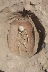 Philistine infant burial
