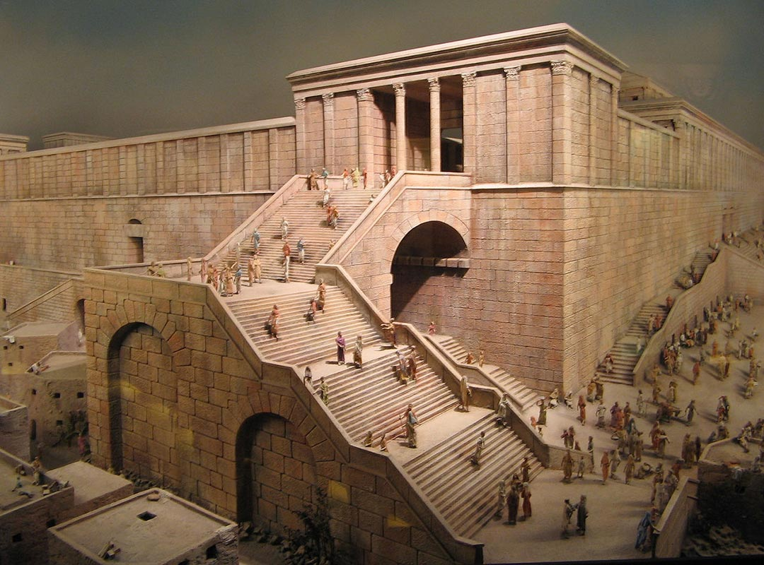 The Robinson's Arch how it looked in ancient Jerusalem
