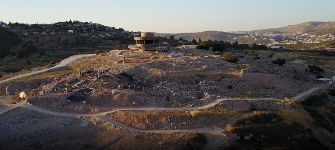 The Shiloh excavation site in Israel where archaeologists discovered horns linked to ancient sacrifices.