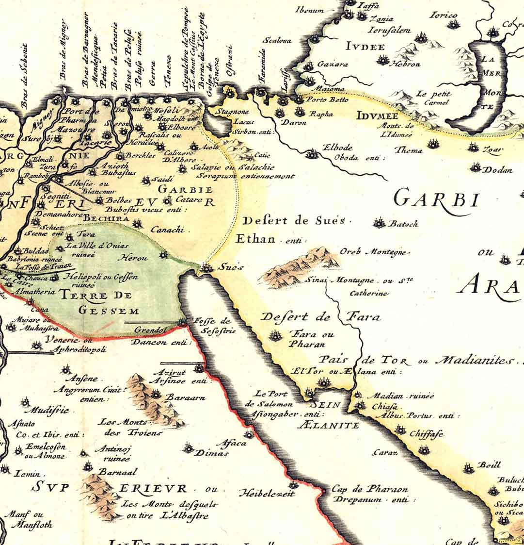 Gulf of Aqaba from a ca. 1700 French map.