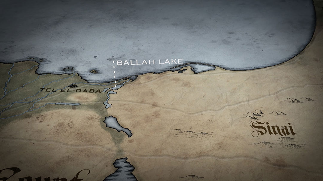 Map of Ballah Lake on the edge of the Nile delta