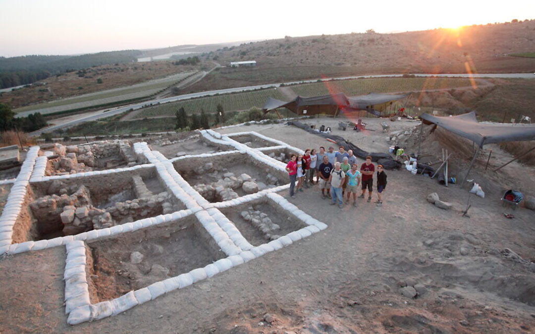 The archaeological team at Tel Lachish in Israel