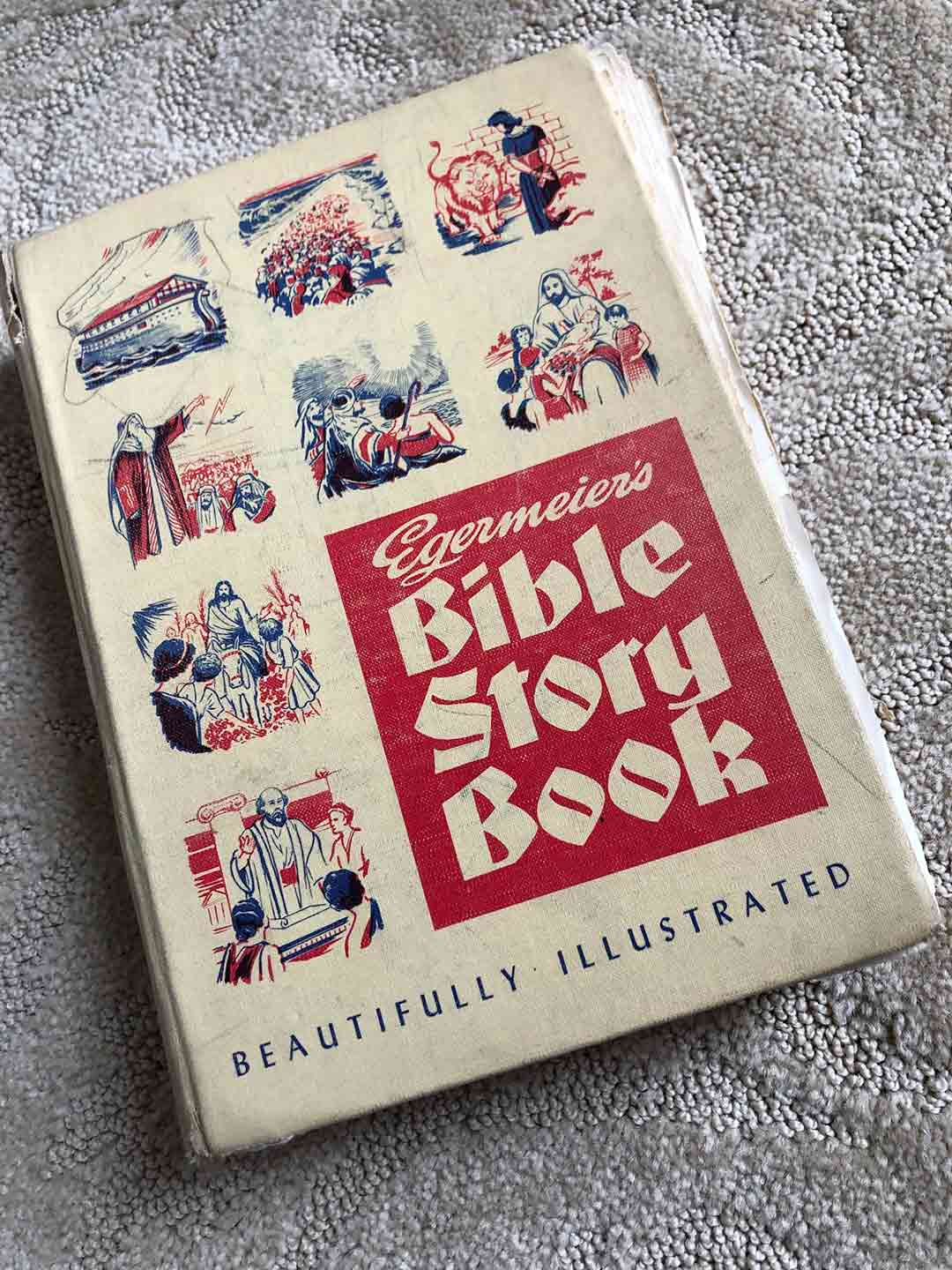 The Egermeier's Bible Story Book that Tim Mahoney's mother would read to him before bedtime