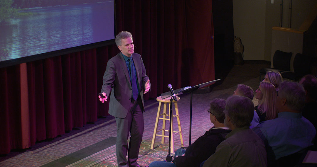 Dr. Douglas Petrovich lecturing: Hebrew the World's Oldest Alphabet