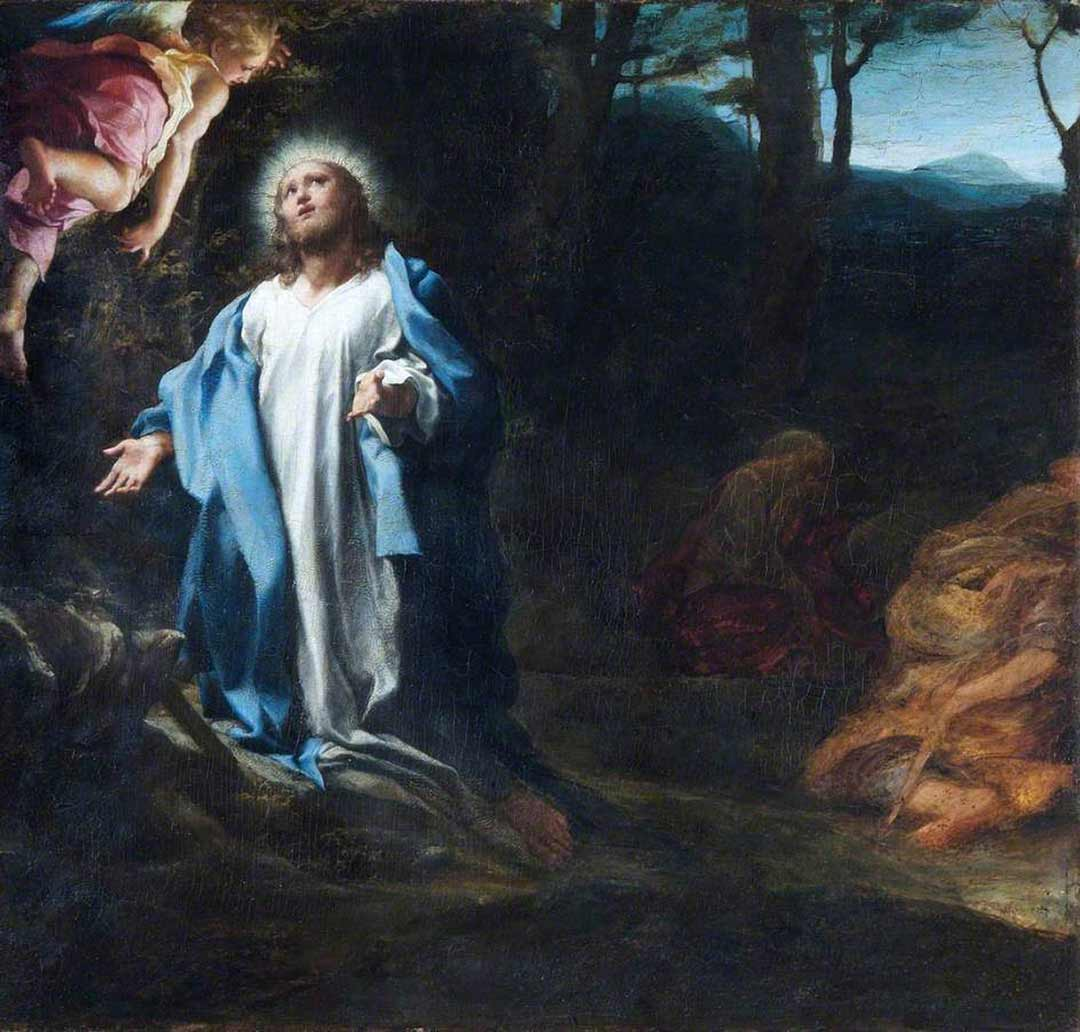 Painting: Agony in the Garden by Antonio da Correggio