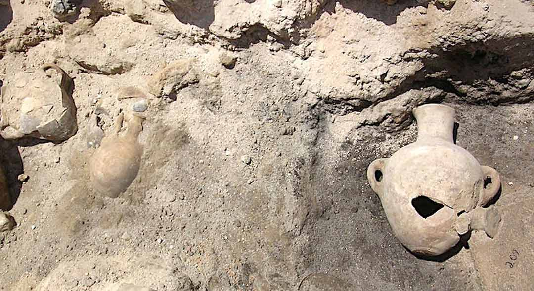 Two whole vessel remain discovered during archaeological excavation