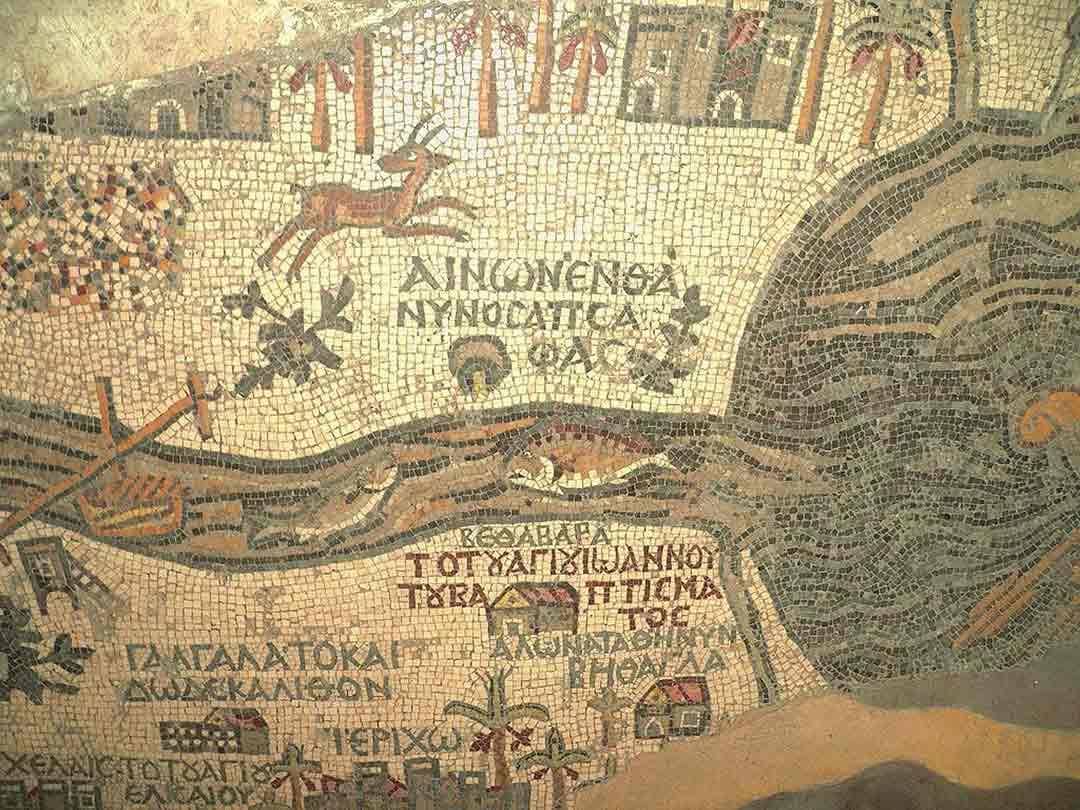 A 6th Century Madaba mosaic map