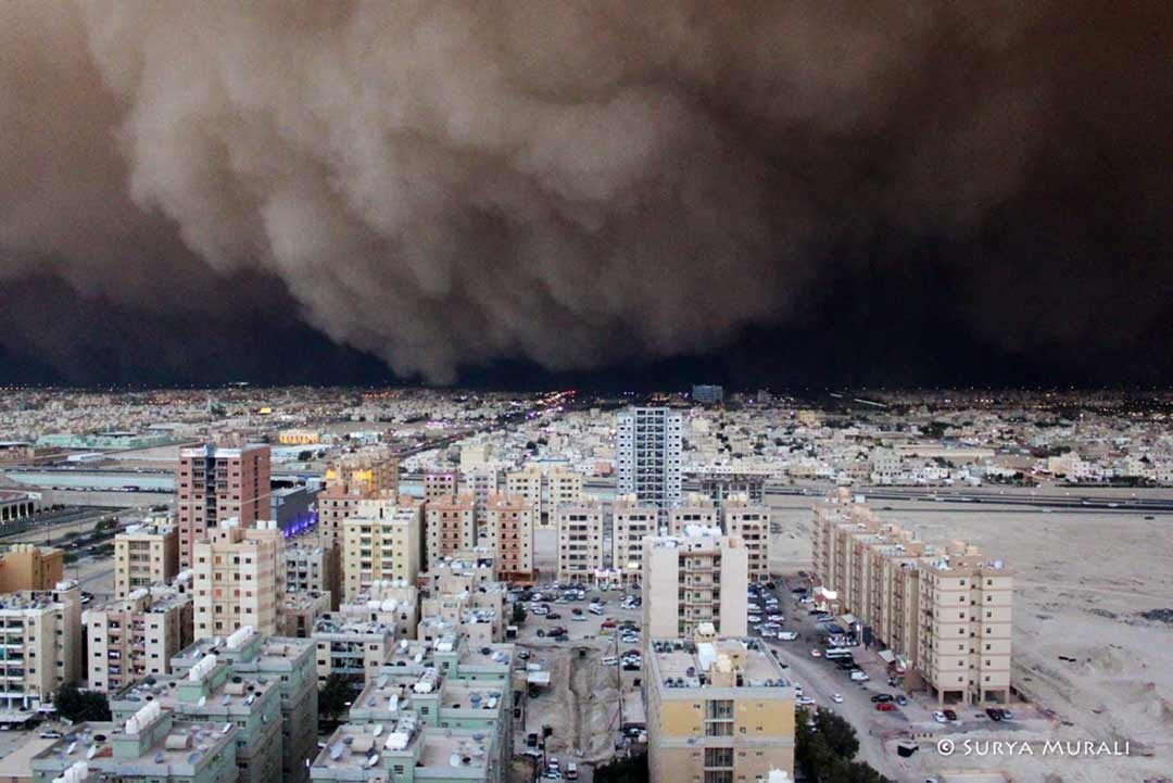 A khamsin dust storm over Kuwait.