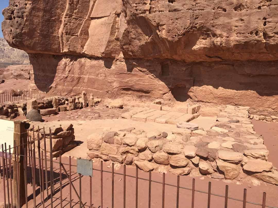 Shrine where miners worshipped the Egyptian goddess Hathor