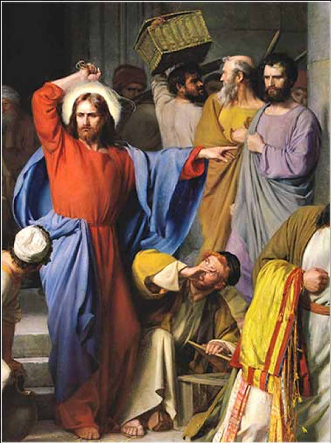 Painting: Jesus Cleansing the Temple by Carl Bloch, 1874