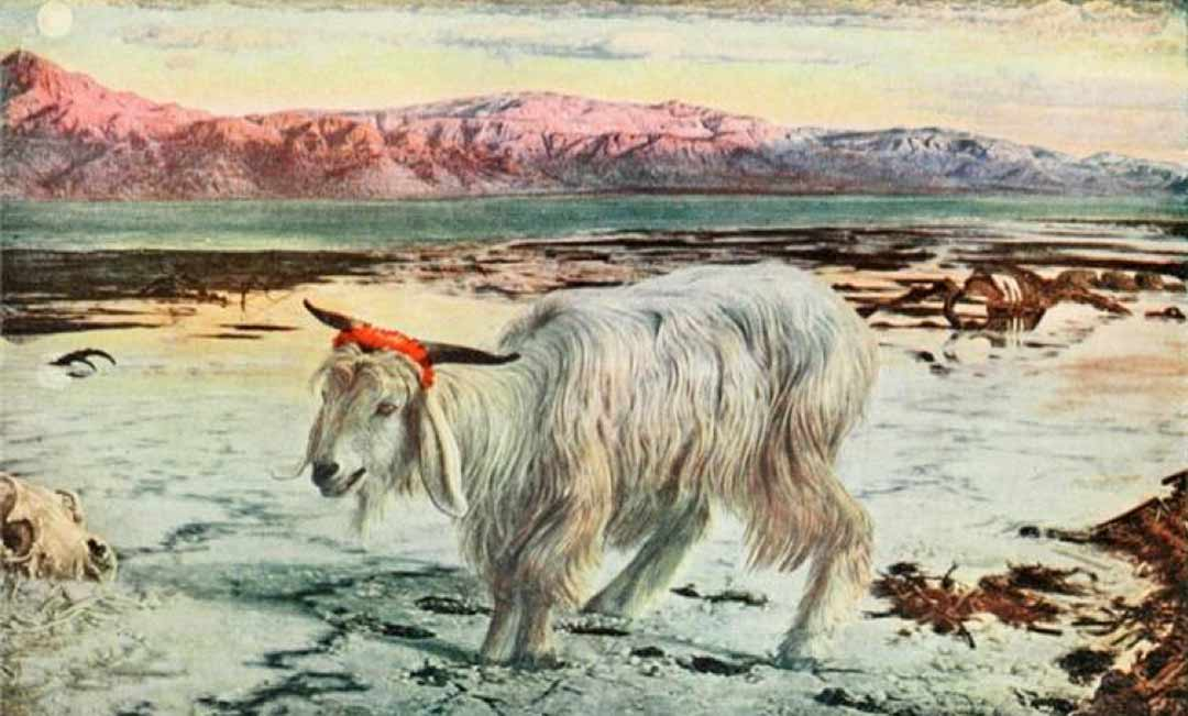 Painting: The Scapegoat by William Holman Hunt, 1908