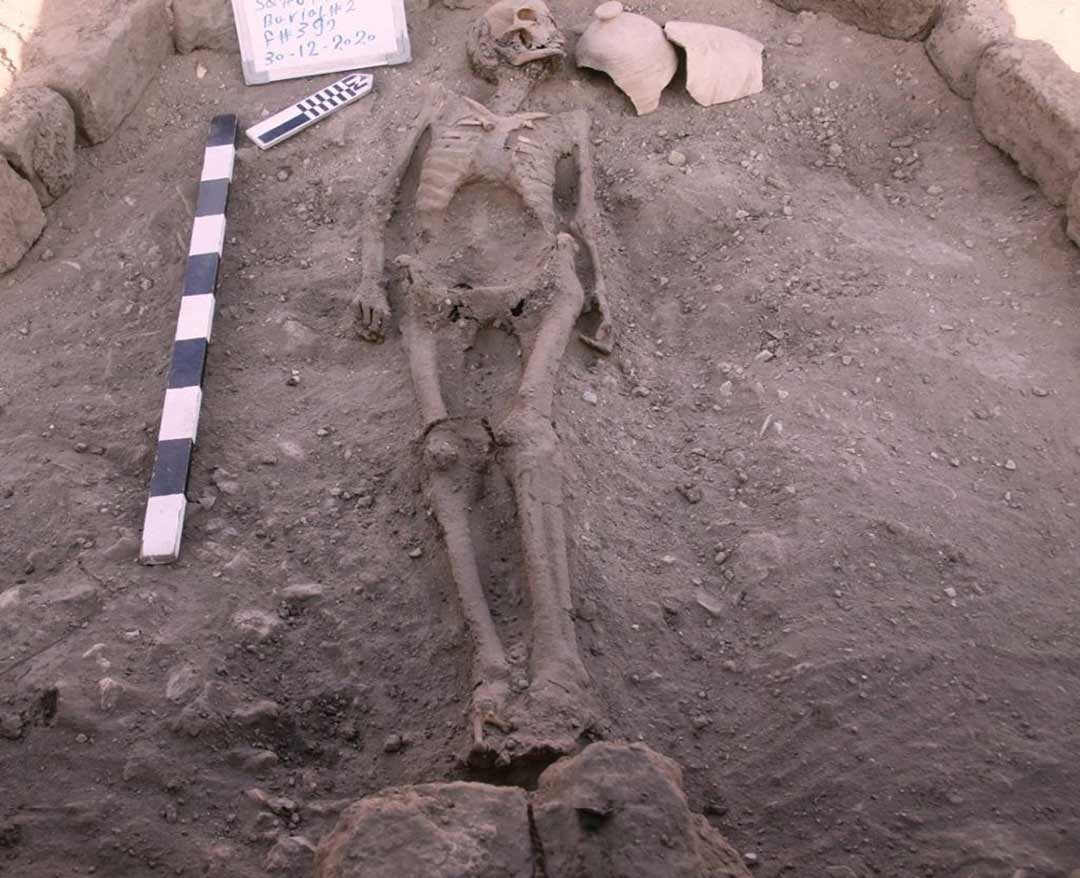 Human skeleton remains discovered at the ancient city